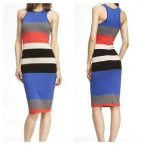 Express Bodycon Striped Multi Dress - Sz M